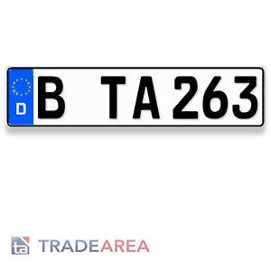 1 Standard Autokennzeichen   Nummernschild Größe 460x110mm DIN-zertifiziert
