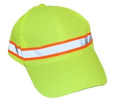 Safety Caps, Reflective Hi-Visibility, Lightweight Mesh Cap, Lime Green