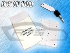 Plastic Pvc Write On Arrow Id Service Key Tags - 1 Box Of 1000 Tags - (White)