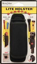 Flashlight Holster - Belt Flash Light Holder - Fits Most Size - 360 Swivel Clip