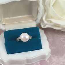 Vintage Jewellery Pearl Diamonds Sterling Silver Ring Antique Art Deco Jewelry