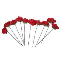 Plante Artificielle Bouquet Fleur Rouge mousse Decoration PE Mariage Marie R7P2