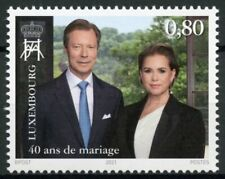 Luxembourg Royalty Stamps 2021 MNH Grand Ducal Couple Ruby Wedding Anniv 1v Set