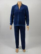 JULIPET - TAILLE L - Ensemble de pyjama homme polaire en velours TABAK, Bleu