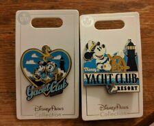 Walt Disney World Yacht Club Set of 2 Pins 2018 Lighthouse Captain Mickey Minnie