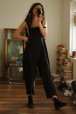 Black Oversized Minimal Jumpsuit 10 12 Dungaree Grunge Festival