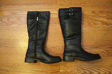 NEW Womens Kenneth Cole Reaction Black Tall Zip Up Kentina Riding Boots Size 10