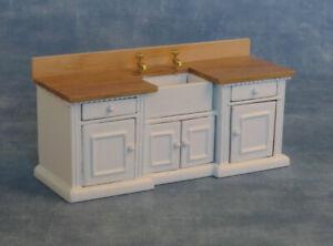 1/12 Scale Dolls House Emporium White 'Smallbone' large Belfast Sink Unit 9288