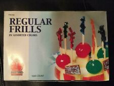 """Poly King Regular Frills Toothpicks 2 3/4"""" Assorted 1000 Count New"""