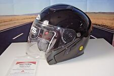 ZOX 88-30761 3/4 SVS Open Face X SM Motorcycle Helmet Gloss Black W Shield HB