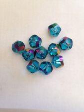 10 8mm Facetted Glass Aqua Marine AB FINISH Beads L@@K SALE # 19
