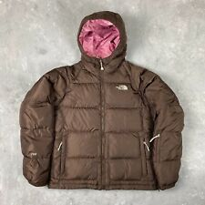 The North Face Nuptse 700 Women's Vintage Puffer Rare Brown Down Jacket Size M