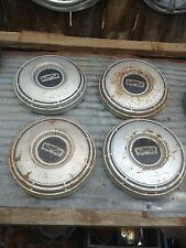 Vintage Set of 4  Chrome Hub Cap Rat Rod Man Garage Wall art