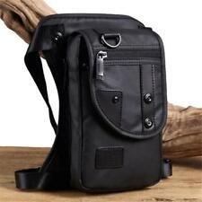 Small Men Woman Shoulder Messenger Bag Waist Bag Mobile Cell Phone Pouch Black