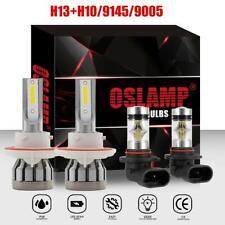 H13 COB LED Headlight + 9145 Fog Lights for 2004-2014 Ford F-150 1600W 226000L