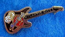 New listing Atlantic City *Casino Dice* Black Fender Stratocaster Guitar Hard Rock Cafe Pin