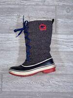 Sorel Women's Boot Tivoli High Nocturnal NL2028-591 Insulated Size 6 Waterproof