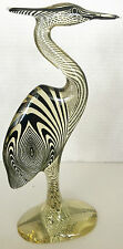 Palatnik carved lucite animal figurines sculptures mid century Brazil heron MCM