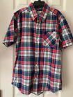 Boys Children's Place Plaid Casual Shirt Size L 10-12 Patriotic Red Blue White