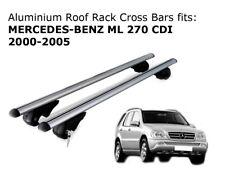 Aluminium Roof Rack Cross Bars fits MERCEDES BENZ ML 270 2000-2005