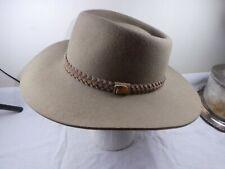 The Aussie Hat Co Wide Brim Hat- Made in Australia - Pure Wool Felt - 57cm