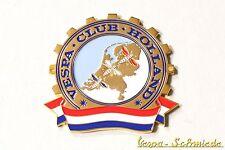 """VESPA IN METALLO-TARGHETTA """"VESPA CLUB Holland"""" - Club Paesi Bassi emblema SMALTO"""