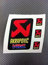 4 Adesivi Stickers AKRAPOVIC HONDA HRC resistente al calore