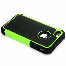 New Green Heavy Duty Protection Hard Case + Screen Guard For iPhone 4 4S 4G