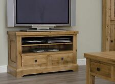 Claridge solid oak furniture living room television cabinet stand unit