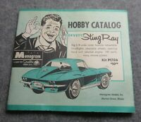 Monogram Mini Hobby kit Catalog sheet from 1965 Vintage Original