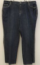 TALBOTS Size 22W PLUS Women's Contrast Stitch Boot Cut Stretch Blue Jeans