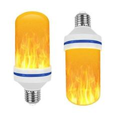 2 Pack LED Flame Light Bulb Simulated Burning Fire For Christmas Home/Hotel/Bar