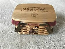LONGABERGER COLLECTOR'S CLUB ACT 2006 25TH ANNIVERSARY BEE BASKET COMBO