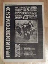 Undertones tour  1979 press advert Full page 28 x 39 cm mini poster