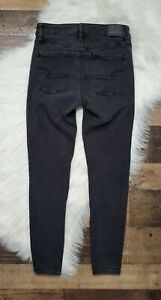 American Eagle Women's High Rise Jegging Womens Size 4 Short Gray /Black Wash