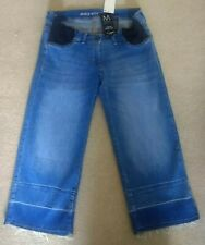 NEXT ANKLE WIDE LEG STRETCH LIGHT BLUE MATERNITY JEANS 8 SHORT 8S BNWT RRP £32