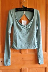 Free People Movement Cosmo Layer Top, XS , Glacial Mist