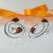 A246 Ohrringe Earrings baltischer Bernstein Schmuck Amber 925 Sterling Silber