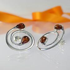 A246 Ohrringe Earrings baltischer Bernstein Schmuck Amber 925 Sterling Silber