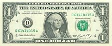 2006 series D/A (CLEVELAND) $1 Federal Reserve Note One Dollar Bill