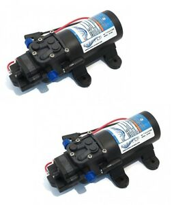 (2)EVERFLO 12 Volt 1.0 GPM Diaphragm Water Pump 40 psi Lawn Sprayers Boats RV's