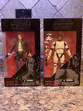 Star Wars Finn (FN-2187) & Han Solo The Black Series #17 & 18