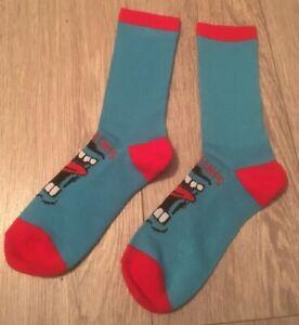 SANTA CRUZ Screaming Skateboard Socks  UK 6 - 9 approx BLUE SCREAM SOCKS