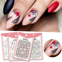 3D Nail Stickers Flower Transfer Decals Decoration Sheets Nail Art Accessories