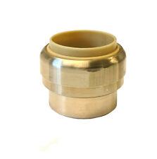 Libra Supply 3/4 inch Push-Fit Brass CAP, Push to Connect, Push x Push, 6 pcs