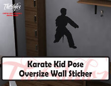 Karate Kid Pose Oversize Wall Vinyl Sticker