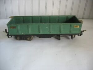 Vtg LIONEL Pre-War 512 Green Gondola Standard Gauge Metal Train Car
