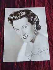 """ANNE CRAWFORD - TV/FILM STAR - """"1 PAGE PICTURE """" - CLIPPING/CUTTING"""