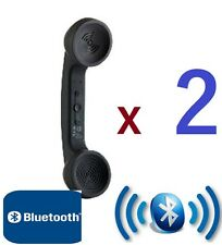 (TWO) 2x WIRELESS BLUETOOTH RETRO PHONE HANDSETS FOR iPhone Samsung SMARTPHONE