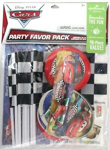 Disney Cars Party Favors Set for 8 Flags Stickers Tattoos Discs Bookmarks 48 Pcs